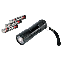 Ansmann Action 9, LED Flashlight, 9 Powerful LED Light  (5016243)