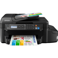 Epson L655 A4, CISS, copier/scanner/printer/fax, 4800x1200dpi, 33ppm black/20ppm color, 6tank, ADF, Duplex 3.3pl, LCD 5.6cm, LAN, WiFi, USB
