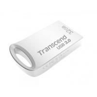 """32GB  USB3.0 Flash Drive Transcend """"JetFlash 710S"""", Silver, Metal Case, Ultra-Slim (R/W:90/20MB/s)"""