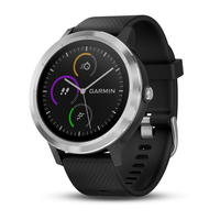 vivoactive 3 black silicone stainless steel