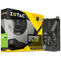 Video Card ZOTAC GeForce GTX 1060 3GB(1708/8000Mhz) DDR5 (192bit), Single Fan, HDCP, DVI, HDMI, 3xDP, Lite Pack