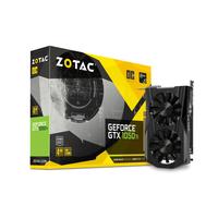 Video Card ZOTAC GeForce GTX 1050 Ti OC 4Gb (1506/7008Mhz) DDR5 (128bit), Single Fan, DVI+HDMI+DisplayPort, LitePack