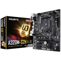 Placa de baza Gigabyte GA-A320M-S2H, Socket AM4, AMD A320, 2xDDR4-3200, VGA, DVI, HDMI, 1xPCIe X16, 4xSATA3, RAID, 1xM.2, 2xPCIe X1, ALC887-8ch