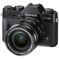 Fujifilm X-T20 black/XF18-55mm Kit, 24.3 mpx, CMOS III sensor & X-Processor Pro, UHD 4K, WiFi, 3.0 LCD 1040K Flip Touch Display + OVF