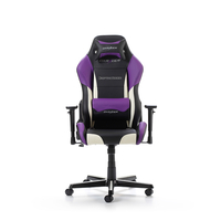 DXRacer Drifting GC-D61-NWV-M3, Black/White/Violet - PU leather, Gamer weight up to 100kg/growth 145-175cm, Gas Lift 4 Class,Recline 90*-135*