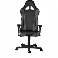 DXRacer Racing GC-R001-NG-W1, Black/Black/Black - PU leather, Gamer weight up to 100kg/growth 165-195cm, Gas Lift 4 Class, Recline 90*-135*