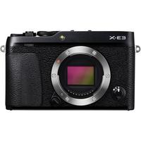 Fujifilm X-E3 body black, 24.3 mpx, CMOS III sensor & X-Processor Pro, UHD 4K, WiFi, 3.0 LCD 1040K Flip Touch Display + OVF