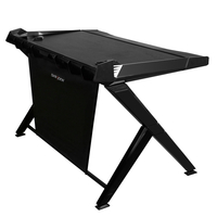 DXRacer GD-1000-N, Color-Black/Black, ABS+Wooden Desk Board+Steel Rod Frame, 360 Degree Rotatable