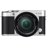 Fujifilm X-A3 silver/XC16-50mm kit, 24.2 mpx, APS-C CMOS, WiFi, 3.0 LCD Touch screen 1040K 180° Flip Display