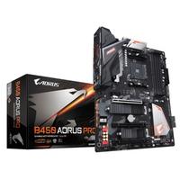 Placa de baza Gigabyte B450 AORUS Pro, Socket AM4, AMD B450, 4xDDR4-3200, DVI, HDMI, 3xPCIe X16, 6xSATA3, RAID, 2xM.2, GLAN, 2xUSB3.1, 6xUSB3.1, RGB