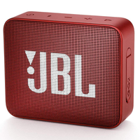 JBL Go 2 Red, Portable, 3W (1x3W) RMS, BT 4.1, 180Hz – 20kHz, IPX7 Waterproof, Lithium-ion battery 730mAh, 3.5 mm jack , Battery life 5 hr