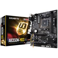 Placa de baza Gigabyte GA-AB350M-HD3, Socket AM4, AMD B350, 2xDDR4-3200, VGA, DVI, HDMI, 2xPCIe X16, 6xSATA3, RAID, 1xM.2, 1xPCIe X1, GLAN, 2xUSB3.1