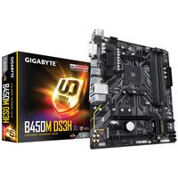 Placa de baza Gigabyt B450M DS3H, Socket AM4, AMD B450, 4xDDR4-3200, DVI, HDMI, 2xPCIe X16, 4xSATA3, RAID, 1xM.2 slot, 1xPCIe X1, 6xUSB3.1, GLAN, mATX
