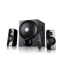 "F&D A350X (Black) RMS 46W, 2x14W (3"") 130Hz~120KHz, 18W subwoofer (6.5"") 20Hz~120Hz, S/N ratio: 70dB, Separ.: 40dB, USB reader, Bluetooth, Remote, AUX"
